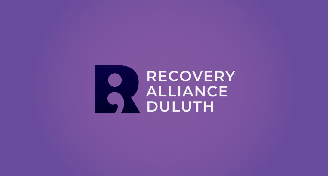 Recovery Alliance Duluth inspired logo design, created by Šek Design Studio