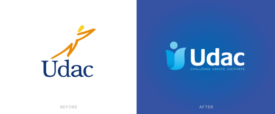 Udac branding redesign, created by Šek Design Studio