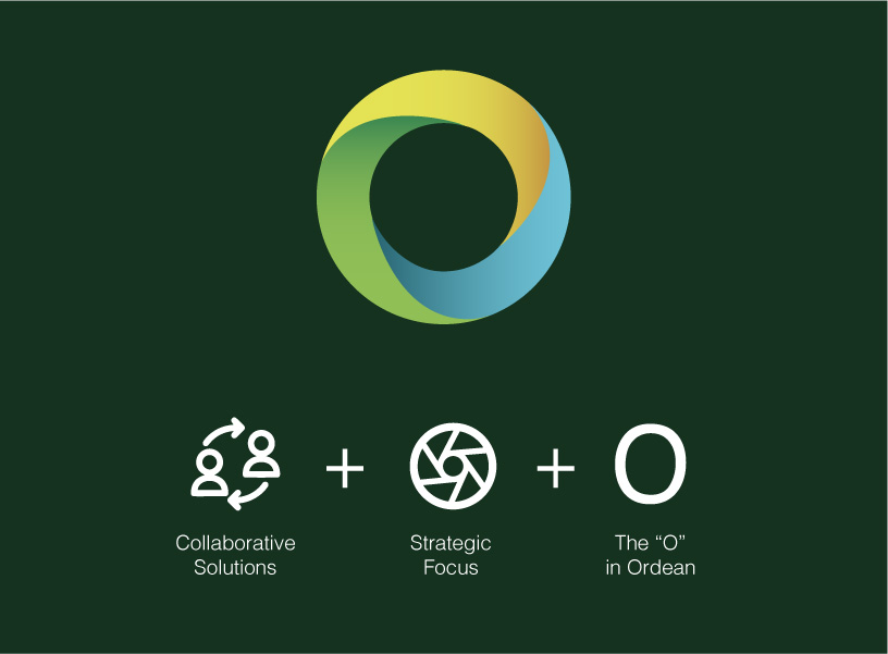 Ordean Foundation visual identity design - behind the design created by Šek Design Studio