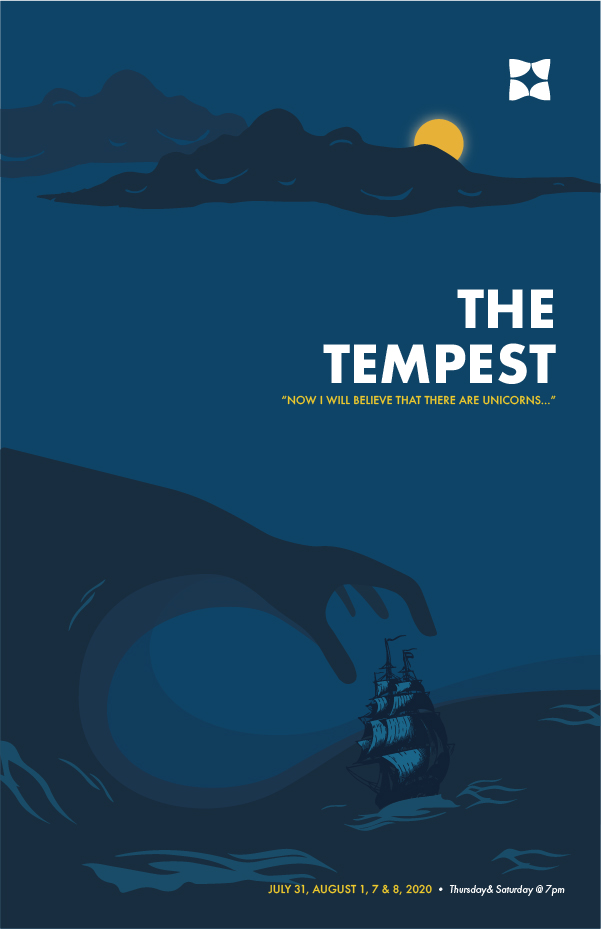 Duluth Playhouse The Tempest poster design created by Šek Design Studio