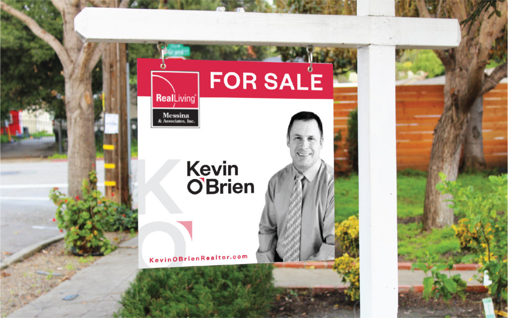Kevin O'Brien outdoor sign design, created by Šek Design Studio