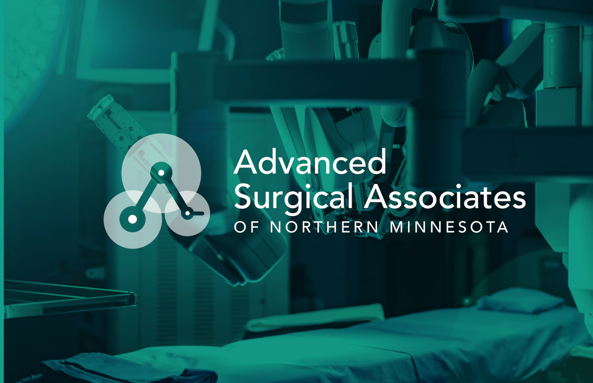 Advanced Surgical Associates of Northern Minnesota full logo, designed by Šek Design Studio